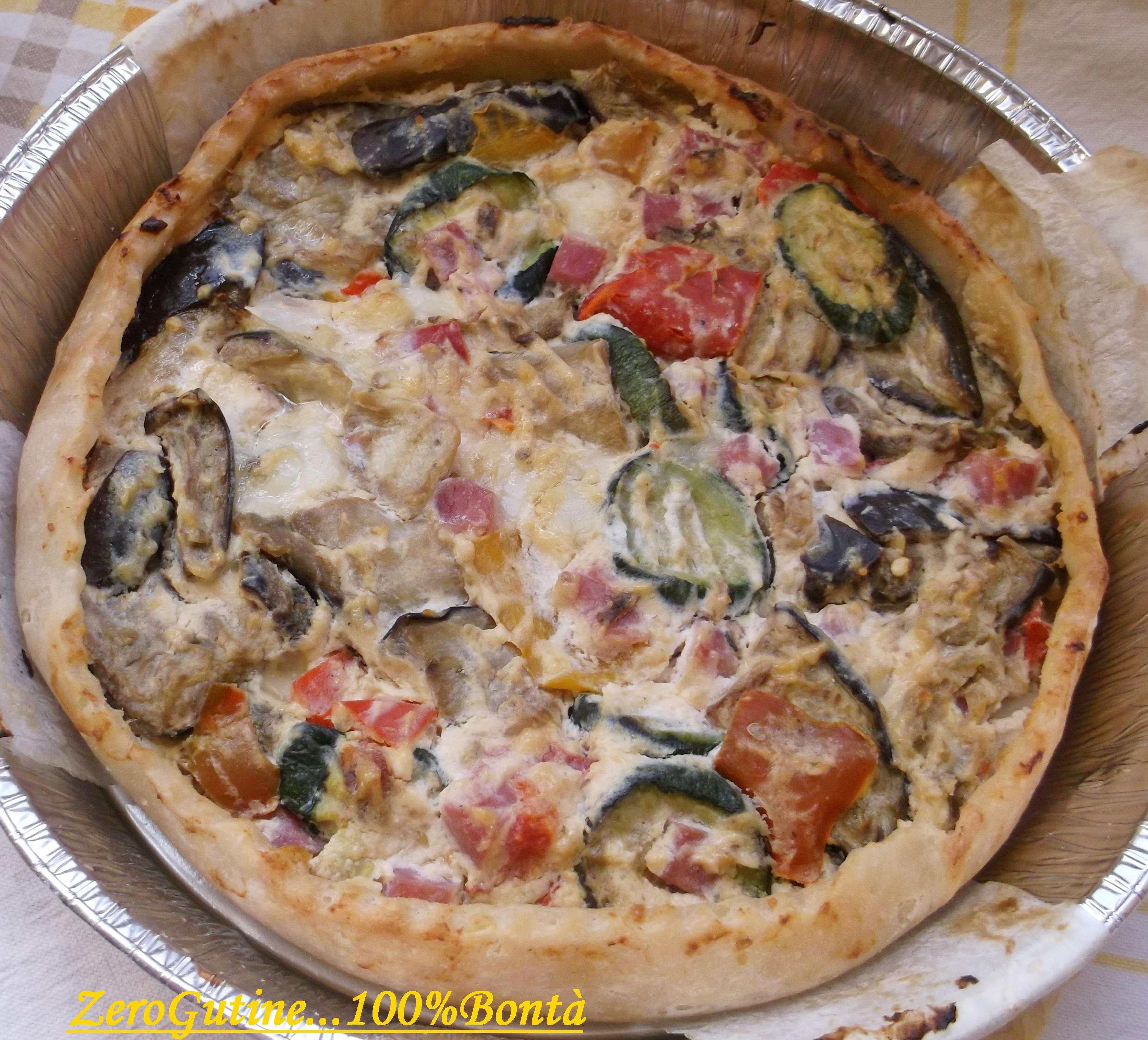 Buon sabato amici oggi vi propongo una ricetta unica preparata con la pasta  Sfoglia senza glutine la Torta Salata con Ricotta e verdure.