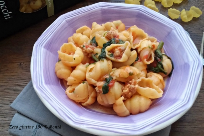 Gnocchi salsiccia e verdura