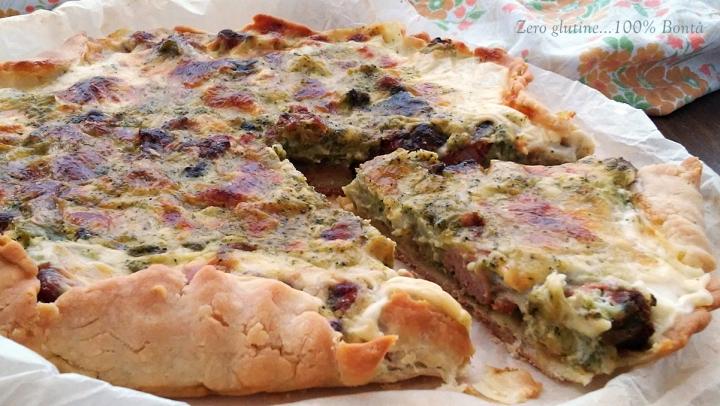 Torta salata broccoli e salsiccia