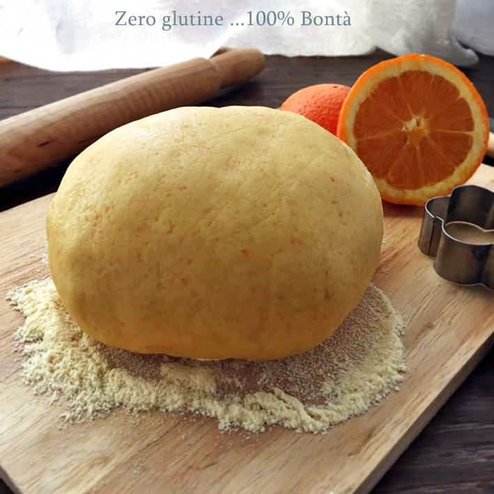 Pasta frolla all'arancia senza glutine