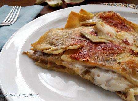 Lasagne ai carciofi e besciamella