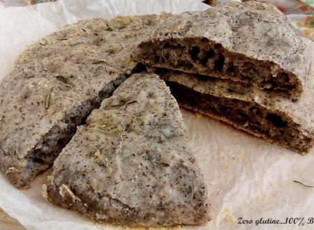 Focaccia di grano saraceno senza glutine