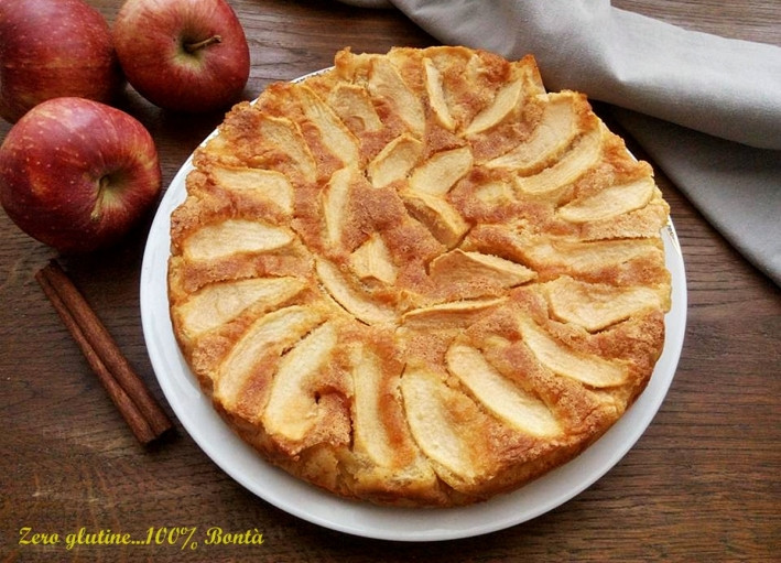 Torta di mele light senza burro
