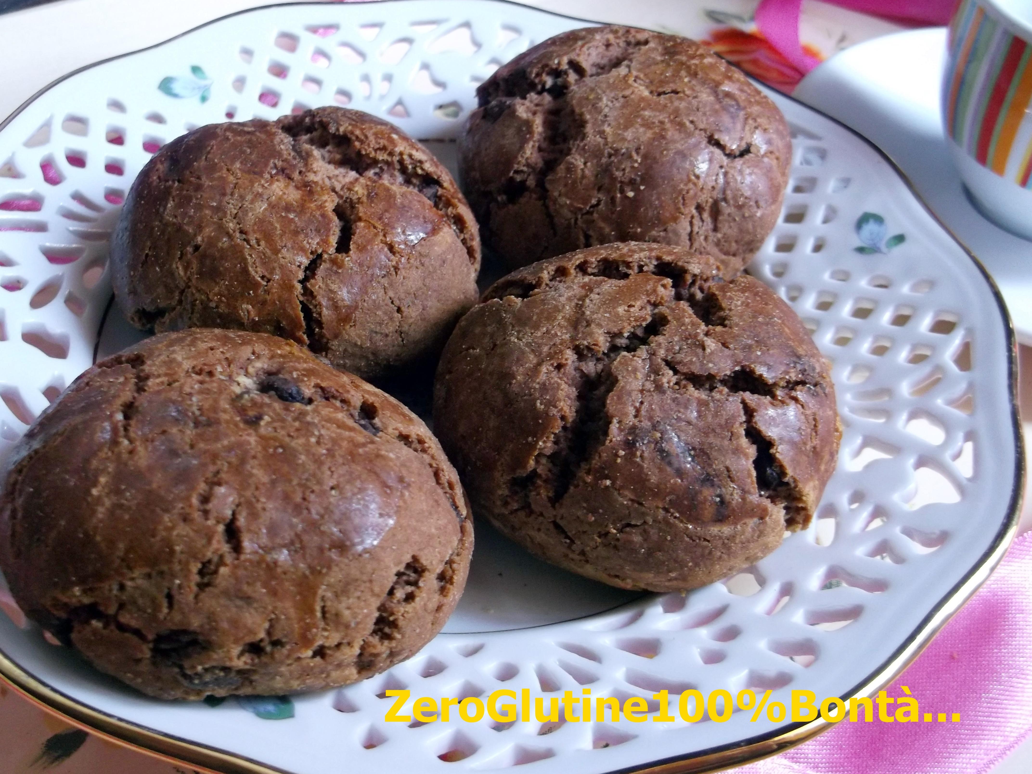 Biscotti morbidi al Cioccolato (senza glutine)