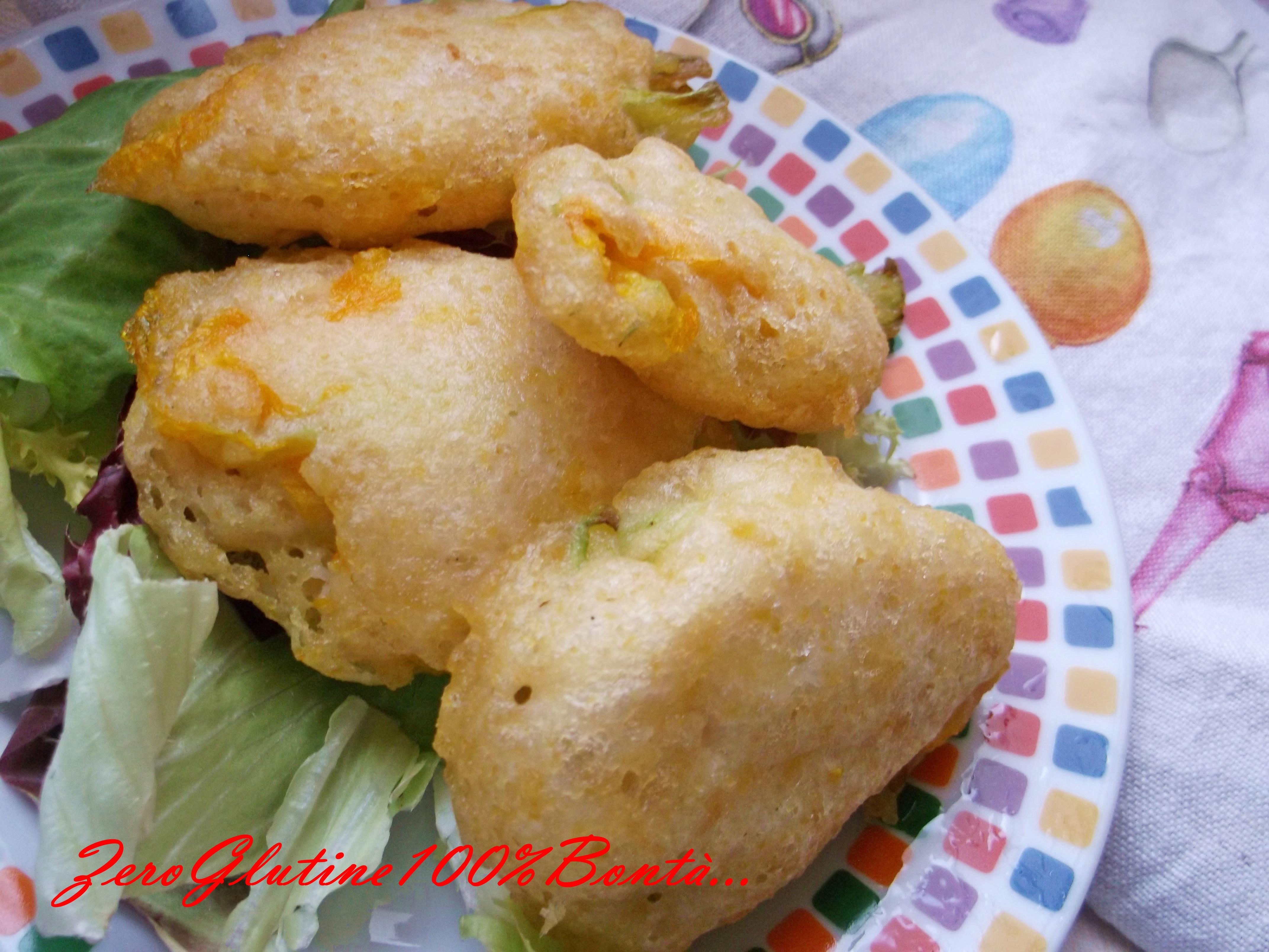 Fiori di Zucchina in Pastella (senza glutine)