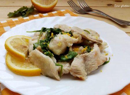 Straccetti di pollo rucola e limone