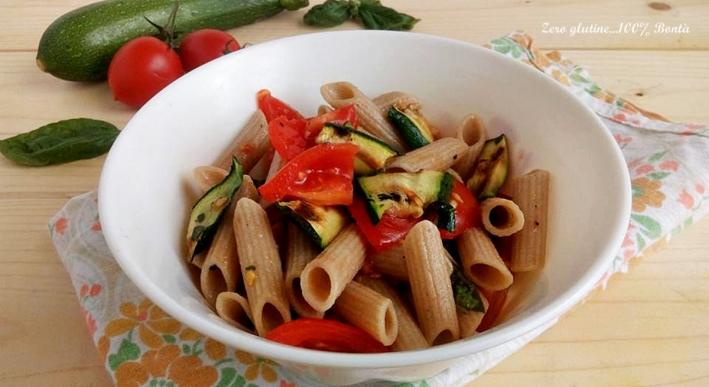 Pasta Fredda Integrale con Zucchine Grigliate e Pomodori