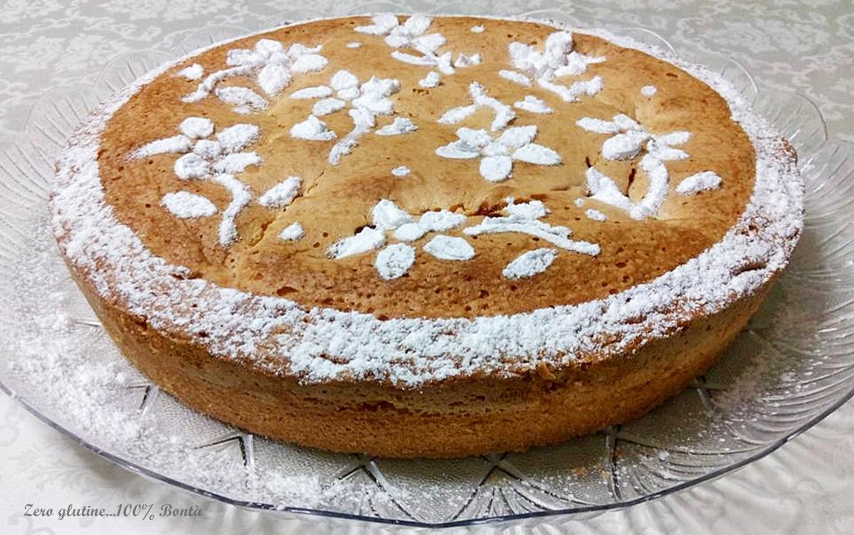 Torta soffice alla marmellata senza glutine e lattosio