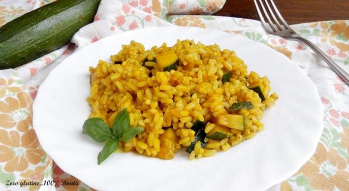 Risotto ai Tre Cereali con Zucchine e Curcuma