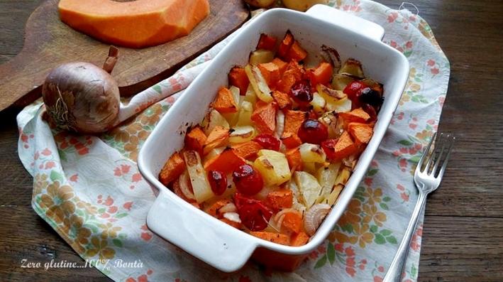 Contorno di Patate e Zucca al Forno
