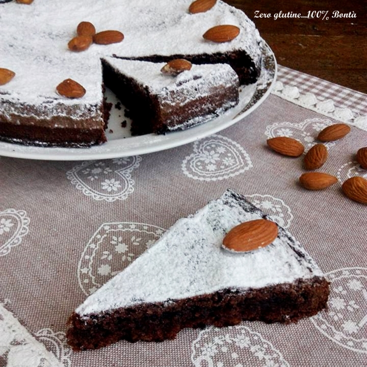 Torta caprese al cacao senza glutine