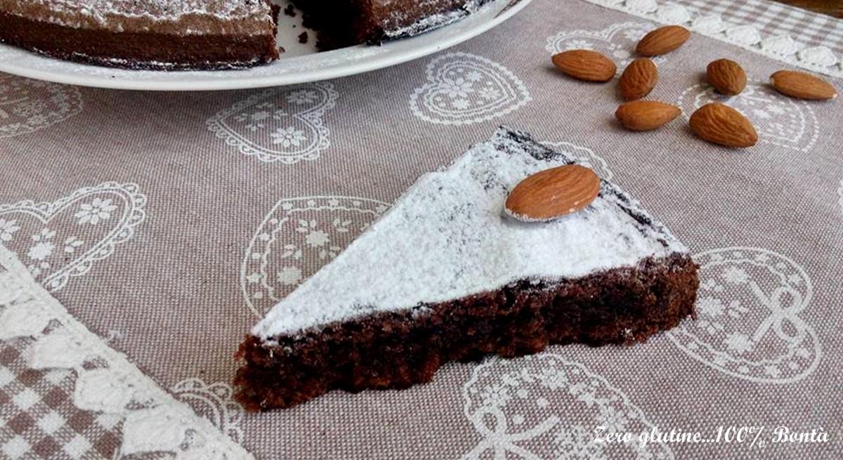 Torta caprese al cacao senza farina
