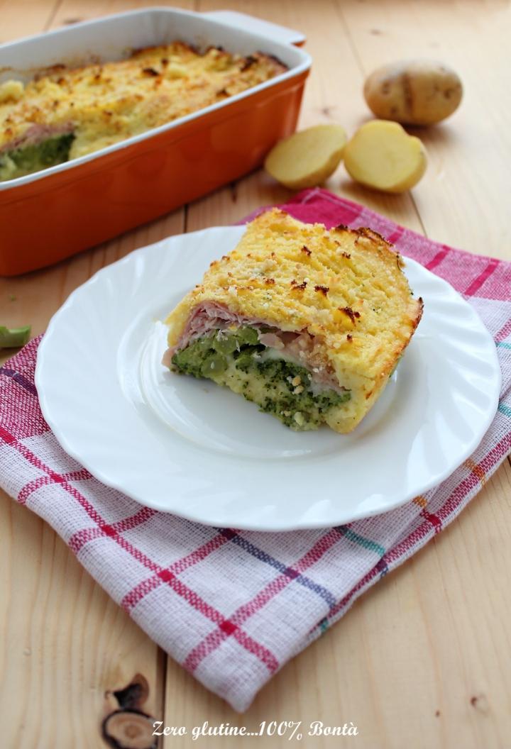 Tortino di patate con broccoli