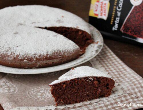 Torta al cacao e nocciole senza glutine e lattosio