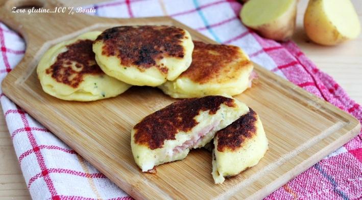Medaglioni di patate cotti in padella