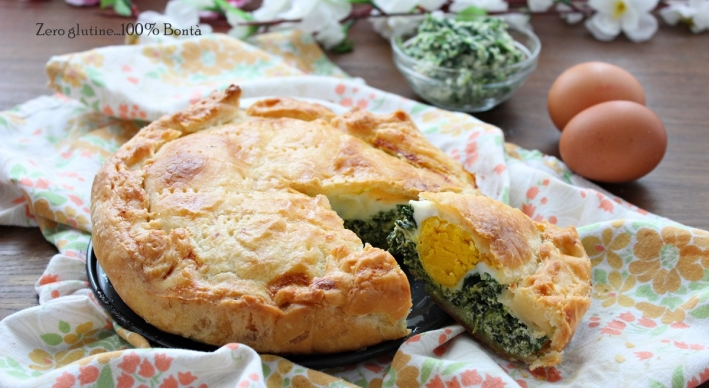 Torta rustica ripiena di ricotta e spinaci