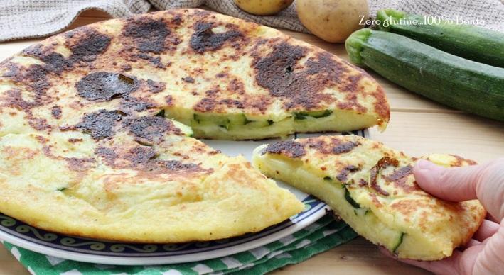 Schiacciata di Patate e Zucchine in Padella
