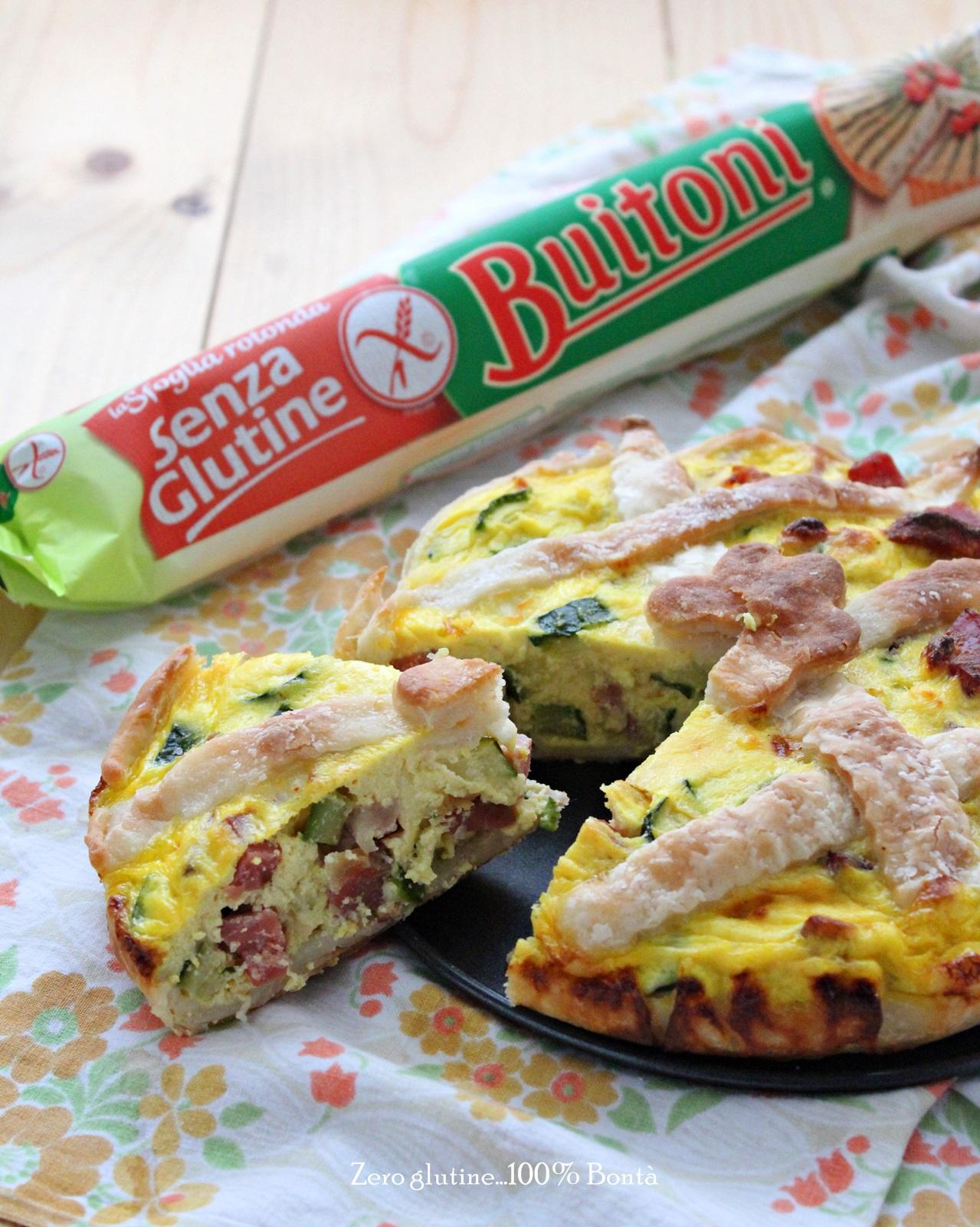 Torta salata con zucchine e speck senza glutine for Torte salate con pasta sfoglia