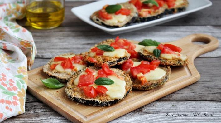 Pizzette croccanti di melanzane