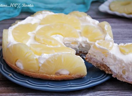 Torta fredda all'ananas e yogurt