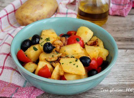 Insalata di patate con melanzane
