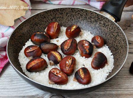 Castagne cotte in padella con il sale
