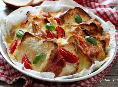 Tortino di pancarrè ripieno di pomodoro e mozzarella