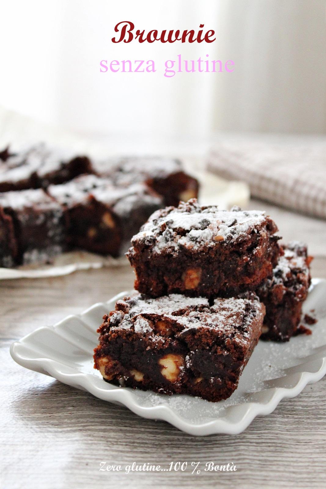 Brownie Al Cioccolato E Nocciole Senza Glutine Ricetta Con Video