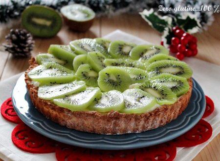 Crostata con crema e kiwi