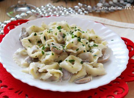 Tortellini con i funghi e panna