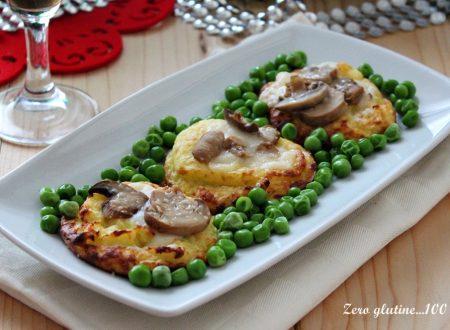 Cestini di patate con funghi e piselli