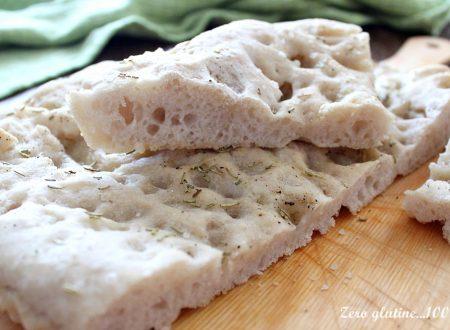 Focaccia con farina di teff senza glutine