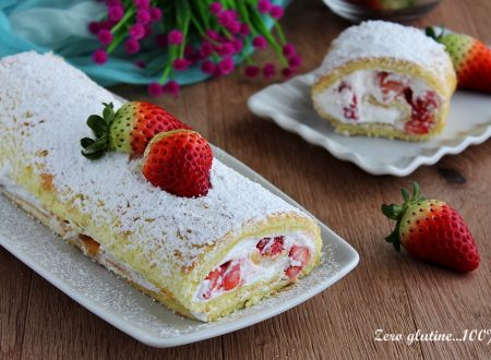 Rotolo dolce alle fragole