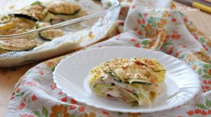 Parmigiana gustosa di zucchine e patate