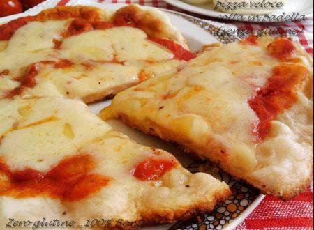 Pizza con lievito istantaneo cotta in padella