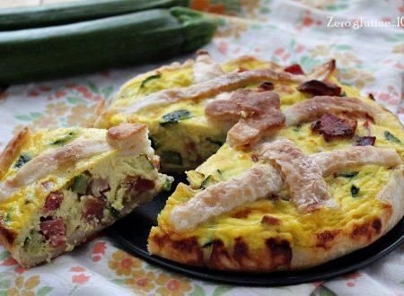 Torta rustica con zucchine e speck