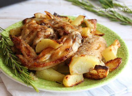 Alette di pollo al forno con patate