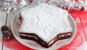 Torta Stella al cacao ripiena di nutella e panna