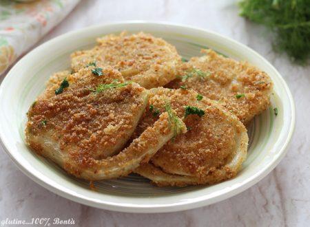 Cotolette di finocchi impanate e fritte