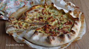 Torta Rustica Ripiena di Piselli, Speck e Prosciutto Cotto