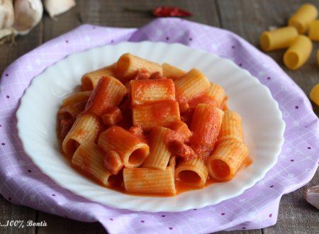 Rigatoni al pomodoro e pancetta