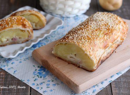 Rotolo di pasta sfoglia ripieno di patate