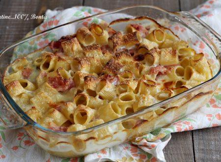 Pasta al forno con formaggi e prosciutto cotto