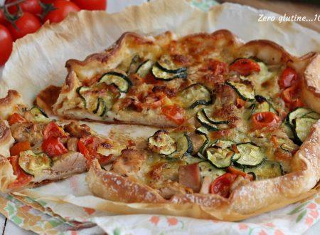 Torta rustica con zucchine e tonno