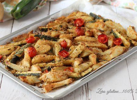 Stick di patate e zucchine al forno
