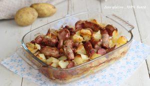Patate salsiccia e würstel al forno