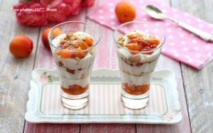 Dolce al cucchiaio allo yogurt e albicocche
