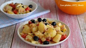 Insalata di patate con tonno e olive