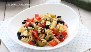 Pasta con zucchine e peperoni