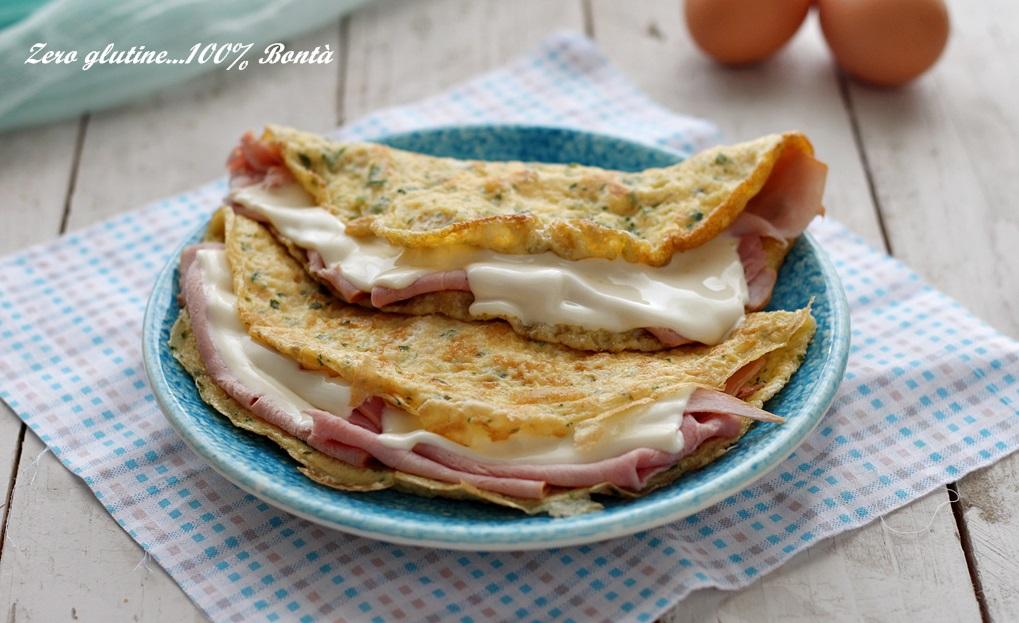 Omelette Ricetta Ripieno.Omelette Farcita Con Prosciutto Cotto E Formaggio